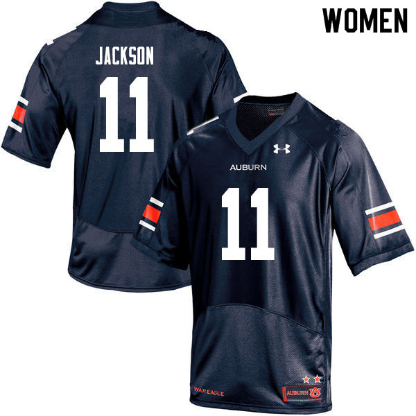 Women #11 Shedrick Jackson Auburn Tigers College Football Jerseys Sale-Navy